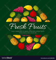 Food Product Poster Design Fresh Fruits Product Poster Design
