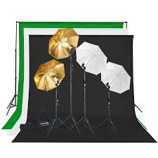 photography studio lighting and background kit