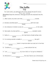 Worksheets Verbs Ending In Ing | Homeshealth.info