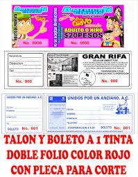 5 000 Boletos Para Rifa O Eventos A 1 Tinta 1 350 00 En Mercado