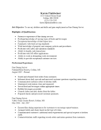 Example Server Resume Inspiration Fine Dining Server Resume Example Examples Of Resumes Within Sradd