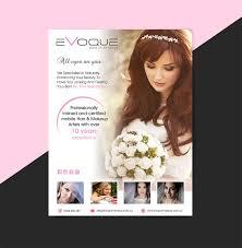 adver design job visual print advert for hair makeup artist winning design