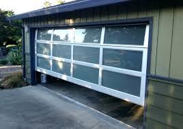 glass garage door frosted glass garage door contemporary collection aluminum series home residential garage doors