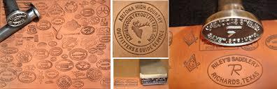 custom leather stamps steel inc