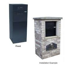 locking curbside mail and package delivery vault mailboxes in black