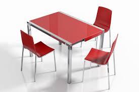 Esstisch Concept Minor Glas rot Aluminium von CANCIO