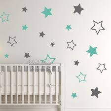nursery stars wall sticker star wall decal star wall stickers for kids room children room decoration boys girls decal n22 in wall stickers from home