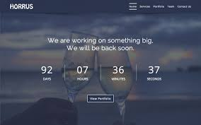 Horrus Coming Soon Template Landing Pages Wrapbootstrap