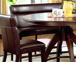 curved leather dining bench with large back and round table awesome benches designs ideas upholstered uk
