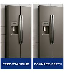 Kitchen countertop depth Upper Aj Madison What Is The Standard Depth Of Counter Depth Refrigerator