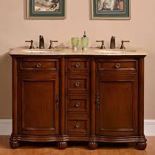 double sink bathroom vanity. silkroad exclusive floyd medium wood tone undermount double sink bathroom vanity with travertine top (common