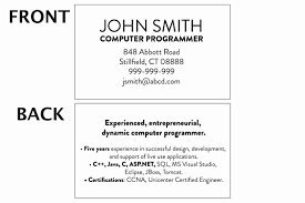 Mini Resume Business Card Inspirational Business Cards And