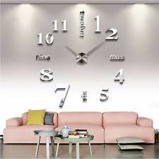 large office wall clocks. diy 3d large number mirror wall clock sticker decor for home office kids room clocks t