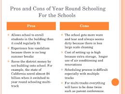 Year Round School Advantages Essay