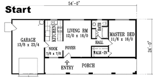 Dimension reference examples that could be used to scale a floor plan:
