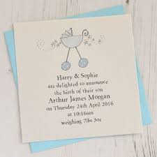 Baby Announcement Cards Pack Of Baby Boy Birth Announcement Cards