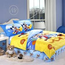 mickey mouse twin comforter set clubhouse theme kids bedroom decor disney collection mickey mouse chevron twin