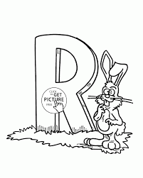 Letter R Alphabet Coloring Pages For