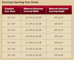 32 x 80 exterior door rough opening. doorway sizes chart for larson storm doors if your entry opening 32 x 80 exterior door rough