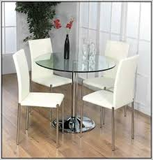 round glass dining table and chair set hideaway