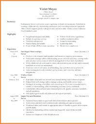 Waitress Resume Sample Spacesheep Co