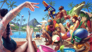 pool splash animated. 45: Login Animation League Of Legends - Pool Party Charapters. Splash Animated J