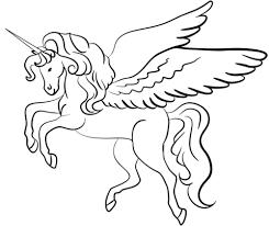 Disegno Di Unicorno Con Le Ali Da Colorare Disegni Da Colorare E