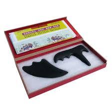 Black Bian Stone New Type Massager Triangle Beauty Face Gua Sha Plate Gift Guasha Chart Hard Box Package Full Body Vibration Platform Fitness Machine