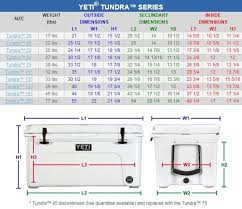 Yeti Tundra Coolers Size Chart Yeti Tundra Yeti Cooler