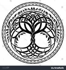 Celtic Tree Chart Vector Ornament Round Celtic Tree Life Createmepink