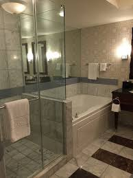 caesars palace walk in shower and jacuzzi tub