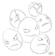 Small Picture Exeggcute coloring page Free Printable Coloring Pages