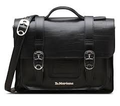 2303 13 inch duct tape leather satchel black official dr martens au