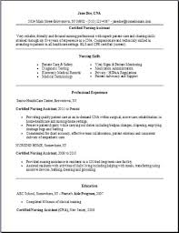 Certified Nursing Assistant Resume Examples Samples Free Edit With Word