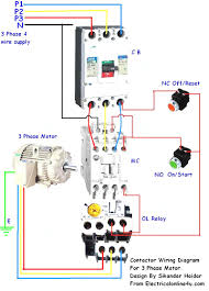 contactor wiring guide for 3 phase motor with circuit breaker 3 phase distribution board diagram at 3 Phase Circuit Breaker Wiring Diagram