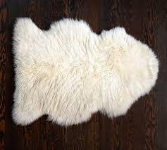 sheepskin rug pottery barn
