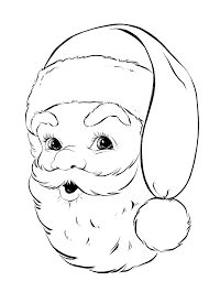 Small Picture Retro Santa Coloring Page Retro Santa face and Face