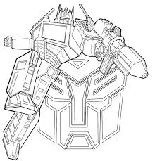 Transformer Coloring Pages Autobots Optimus Prime Coloringstar