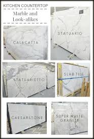 Small Picture Kitchen Countertops Marble and Look alike Alternatives