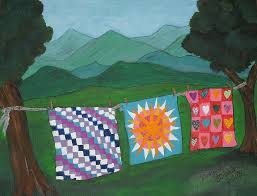 Appalachian Quilts Painting by Ginger Strivelli & Quilts Painting - Appalachian Quilts by Ginger Strivelli Adamdwight.com