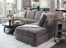 Image Ottoman Open Floor Plan Living Room With Medium Gray Sectional And Loads Of Texture Pinterest How To Choose The Perfect Sectional For Your Space Living Rooms