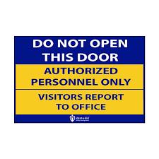 do not open door stickers