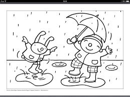 Regen Knutselideeën Ukpuk Kleurplaat Puk Kls Regen En Wind