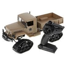 2.4G RC & WIFE Camera <b>Snow</b> Track <b>Tires</b> 4WD <b>Military Truck</b> Car ...