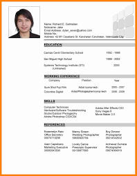 Student Resume Sample In Philippines Resume Ixiplay Free Resume