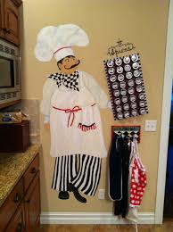 Italian Chef Decorations Kitchen Fat Chef Dishwasher Magnet Bistro Kitchen Door Cover Waiter Home