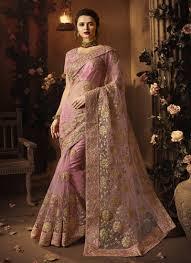Light Pink Indian Wedding Dress Light Pink Embroidered Net Indian Wedding Dress Latest Saree Trends