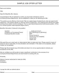 Download Job Offer Letter Sample For Free Formtemplate