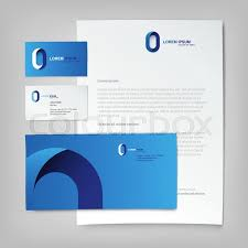 Corporate Identity Template Abstract Stock Vector Colourbox