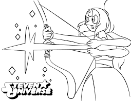 Cute Steven Universe Coloring Pages Pearl Get Coloring Page